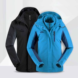 windbreaker jacket removable liner Australia - Ski Suit Jacket Couple Windbreaker Snowboarding Breathable Men Women Winter Sports Jacket Hiking Snowing Sets Hiking UV protection clothing