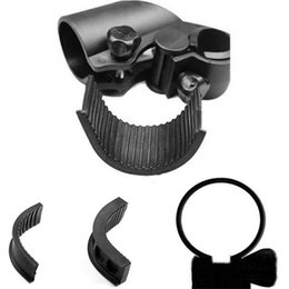 Wholesale Black Plastic Flashlight LED Torch Cycling Bicycle universal Handlebar Mount Light Holder Clamp Clip Easy to mount on your bike