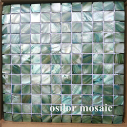 $enCountryForm.capitalKeyWord Australia - Chinese freshwater shell mother of pearl mosaic tile for kithen and washroom decoration wall tile green color 2 square meters lot
