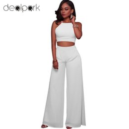 Chinese  Sexy Women Two Piece Set Halter Strap Crop Top Bandage Wide Leg Pants Set Party Nightclub Outfit tracksuit Dark Blue Pink White manufacturers