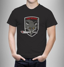 $enCountryForm.capitalKeyWord Canada - Fox Hound Metal Gear Knife Logo Black Wholesale Men Short Sleeve 100% Cotton Stranger Things Print T-Shirts Original