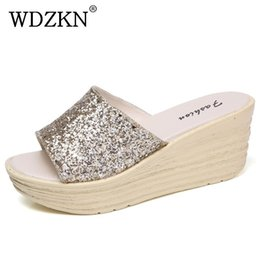 $enCountryForm.capitalKeyWord Canada - WDZKN Summer Women Slippers 2017 Candy Colors Bling Outside Open Toe Wedge Slippers Platform Slides Fashion Women Shoes H1758
