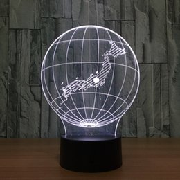 $enCountryForm.capitalKeyWord Australia - 3D LED Lamp Lights earth form of 3D Color Art Sculpture Optical Illusion LED 3D globe night lamp with touch drop shipping