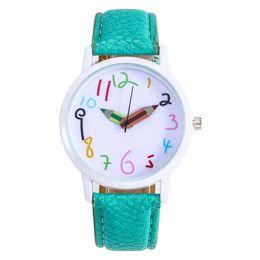 $enCountryForm.capitalKeyWord UK - Student Boys Girls Fashion Watch Leather Strap Clock Female Quartz Watch for Dropshipping Fashionable Popular Nice Sweety Gift