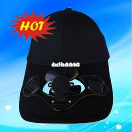 $enCountryForm.capitalKeyWord NZ - Wholesale - BLACK  FREE SHIPPING SWITCH CONTROLED SOLAR POWERED FAN COOLING COOL BASEBALL HAT CAP