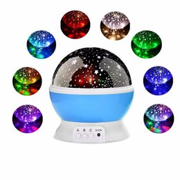 rotating star moon lamp NZ - Christmas decorations Stars Starry Sky LED Night Light Rotating Projector Moon Lamp Romantic Bedroom Bedside Lights For Children Baby gifts