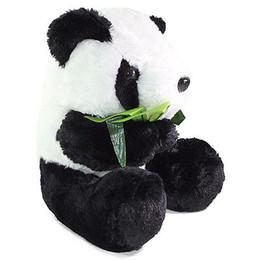 "$enCountryForm.capitalKeyWord UK - 11"" Big Sitting Panda Bear Eating Bamboo Plush Stuffed Animal Toy Birthday Gift"
