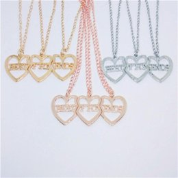 Heart Shaped Chains For Couples Australia - Heart Shaped Charms Pendant Necklace Couple Broken Heart Best Friends Forever Necklaces Friendship Jewelry For Girls
