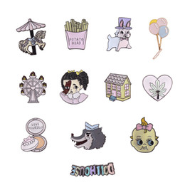 denims shirts for girls 2019 - Animal Brooches Ferris wheel heart Enamel Pin for Boys Girls Lapel Pin Hat bag Pins Denim Jacket Shirt Women Brooch Badg