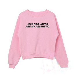 50768ab10 Funny graphic sweatshirts online shopping - Jin s dad jokes are my  aesthetic BTS Crewneck Sweatshirts