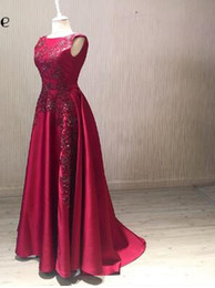 $enCountryForm.capitalKeyWord NZ - SoAyle A-Line Red Satin 2018 Mother of Bride Dresses Sleeveless Lace Beaded Appliques Wedding Guest Dresses