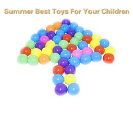 $enCountryForm.capitalKeyWord Australia - 100 PCS Eco-Friendly Colorful Soft Water Pool Ocean Wave Ball Pits Baby Funny Toys Stress Air Ball Kids Outdoor Fun Sports 5.5cm