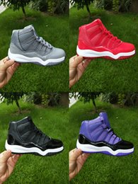 Coolest Basketball Shoes Canada - 2018 new XI 11 high Cool Grey kids basketball shoes high quality 11s WIN LIKE 96 GYM RED boy and girls athletic sports sneakers with boxes.