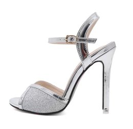 $enCountryForm.capitalKeyWord Canada - red bottom glitter silver sequined peep toe high heels women wedding shoes designer shoes size 34 to 39