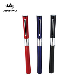 $enCountryForm.capitalKeyWord UK - Free Shipping Stationery Jinhao Luxury Metlal Gift Pen 0.38mm Extra Fine Nib Fountain Pen Black Silver Ink Pens Christmas Gift