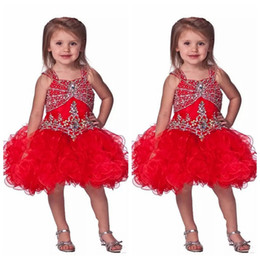 $enCountryForm.capitalKeyWord NZ - Bling Bling 2019 Beaded Pageant Cupcake Dresses Infant Mini Short Skirts Toddler Tutu Kids Birthday Party Gowns Custom Kid Wear