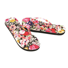 hot flops shoes Canada - Slippers Women Flowers Sandal Home Toepost Flip Flops Slippers Beach Shoes New Hot Sale Female Casual Flat Tongs Femme ete