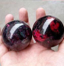 Crystal Ball Music Australia - Natural peach blossom jade Crystal gemstone sphere meditation reiki healing bloodstone polished ball as gift mineral stones