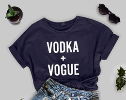 Chinese  vodka+vogue Korean graphic fashion style t shirt letter print unisex kpop lovely tops clothing tee youth t-shirt aesthetic women manufacturers
