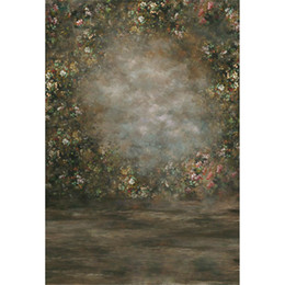 backdrop computer painted scenic background 2019 - Retro Vintage Dark Watercolor Painting Backdrop Flowers Newborn Baby Photography Props Kids Children Girls Photo Studio