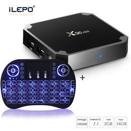 Keyboard google online shopping - 2019 s905W TV Box Streaming Boxes X96 mini Android K Smart tv box GB GB mini RII I8 Wireless Keyboard
