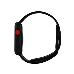 Chinese  Goophone Watch 3 Aluminum Alloy Smart Watch Sapphire Mirror Red Crown Wireless Charging MTK2502C 350mAh Battery for iPhone X 8 Plus Note9 S9 manufacturers