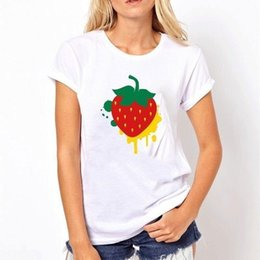 $enCountryForm.capitalKeyWord Canada - A strawberry in graffiti style High Quality Tops Tee Ladies Pattern Cotton 3d Printing GAMING INTERESTING POPULAR CLOTHING Funny Women Summe