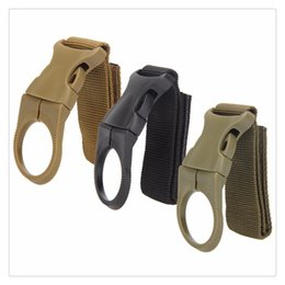 water bottle belt clip holders 2019 - Outdoor Military Nylon Webbing Buckle Hook Water Bottle Holder Clip EDC Climb Carabiner Clip Belt Backpack Hanger Camp F