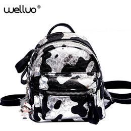 563bf281a188 Multifuction Mini Backpacks Glitter Silver Shoulder Bags Women Small  Rucksack For Female Cute Girls Panelled Backpack Bag XA26B