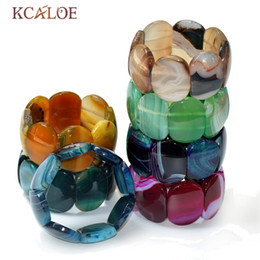 5afe156e025a KCALOE Big Onyx Stone Wrap Bracelets Piedras semipreciosas naturales  Stretch Charm Bracelet Pulseras de las mujeres Joyería minimalista