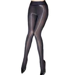 Oil saw online shopping - Sexy Oil Shiny Pantyhose Women Sheer Tights Smoothly Fabric Hosiery Fantaisie See Through Strumpfhose Gloss Collant