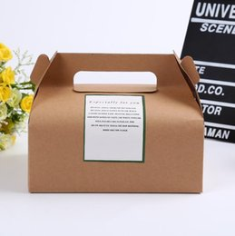 $enCountryForm.capitalKeyWord Canada - 300Pcs big size 20*15*8cm Boutique Cake Food Kraft Paper Box With Handle Wedding Party Favor Candy Gifts Packaging Boxes free shipping
