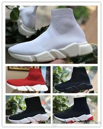 cheap lace runners NZ - Sock Shoes Luxury Speed Trainers Running Shoes Designer Sneakers Boots Socks Race Runners Black White Mens Womens Outdoor Sport Casual Cheap