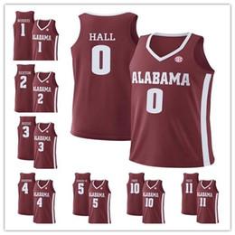 746cce8c43a Alabama Crimson Tide Riley Norris Collin Sexton 5 Avery Johnson Jr 0 Donta  Hall MEN Red White Sewn NCAA College Basketball Jerseys S-4XL