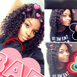 free human hair wigs 2018 - Free Shipping 150% Density Lace Front Human Hair Wigs Pre Plucked With Baby Hair Brazilian Remy Curly Short Virgin Hair