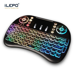 wireless keyboard touchpad for tv Australia - Colorful backlit air mouse and keyboard touchpad handheld 2.4G wireless mini keyboards RII I8 mini fly air keyboard for tv box android