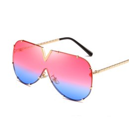 0c28d9c6f0c1 White Oversized Women Man Sunglasses Big Frame Gold Square Onepiece Sun  Glass Female Punk Eyewear Top Quality Fashion Colorful