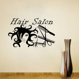 Painting Wall Ornaments Australia - Hair Salon Wall Stickers Scissors Ornament For Barber Shop Wall Decorative Vinyl Decals Creativity Painting On The Wall