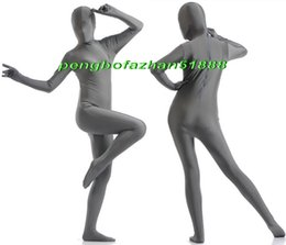 Xl Full Body Suits Australia - Unisex Full Body Suit Costumes Outfit New Gray Lycra Spandex Suit Catsuit Costumes Unisex Sexy Full Bodysuit Costumes Outfit P404