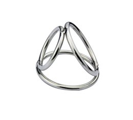 $enCountryForm.capitalKeyWord Australia - cock rings cage triple rings for penis ball bondage gear restraints stainless steel adult sex toys for men small large XCXA172