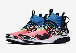 Candies sneakers online shopping - New Release ACRONYM x Air Presto Mid Pink cotton candy cool grey Dynamic yellow Men Women Running Shoes Sports Sneakers Prestos Top quality