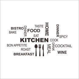 wall lettering stickers Words Wall Mural DIY Removable Wall Stickers Decoration Kitchen Bon Appetite Food Home Cocktail Bake Family Decals  sc 1 st  Wholesale u2013 Buy China Wholesale Products on DHgate.com & Kitchen Word Art NZ | Buy New Kitchen Word Art Online from Best ...