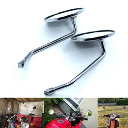 $enCountryForm.capitalKeyWord NZ - For Motolovee Universal Clockwise 10mm Round Motorcycle Rearview Mirrors 360 Degree Convex Moped Scooter Motorbike Side Mirror