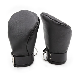 Leather Wrist Gloves Australia - hand restraints dog palm gloves cosplay handcuffs fetish play couples flirting sex toys adult products faux leather GN252400209