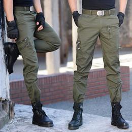 Discount mens fashion combat trousers Tactical Cotton Cargo Pants Men Military Special Force Camouflage Combat Pants Mens SWAT Trousers Many Pockets City Casu