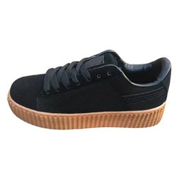 56d772e72800 Free shpping 2017 New Charity Fenty Suede Cleated Creeper Womens Fenty  Creepers By Rihanna Shoes Casual shoes SIZE 35-44 black creepers for sale