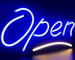 neon open sign white Australia - Open glass tube Neon Light Sign Home Beer Bar Pub Recreation Room Game Lights Windows Glass Wall Signs 24*20 inches