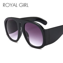 141922b243f ROYAL GIRL 2018 Vintage Oversized Sunglasses Women Oval Big Frame Leopard Black  Gray Designer Sun Glasses for Women Oculos ss963