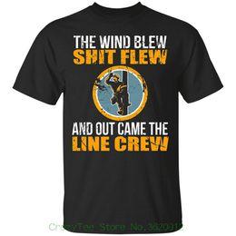 Ingrosso Nuove magliette di abbigliamento di marca The Wind Blew Shit Flew e Out Came The Line Crew, Lineman Gift Tee, T-shirt