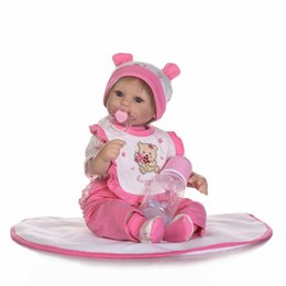 Real Girls Toys Australia - 17inch newborn baby soft vinyl reborn dolls lifelike simulation baby Realistic doll 43cm real gentle touch girl toy gift dolls